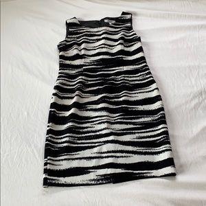 Kasper Separates Zebra Print Shift Dress